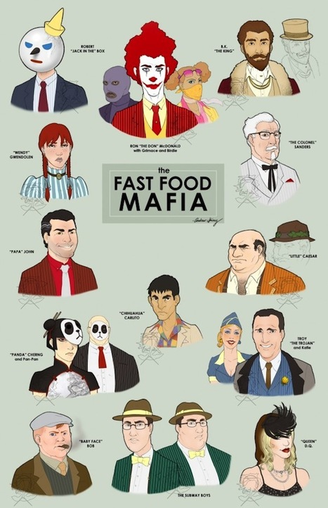 Fast Food Mascots as Gangsters »  Flavorwire | @FoodMeditations Time | Scoop.it