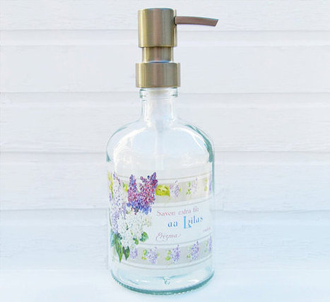 French Lilac Apothecary Soap Dispenser Recycled Glass Soap Dispensers Choose Your Pump | Soap Maker | Scoop.it
