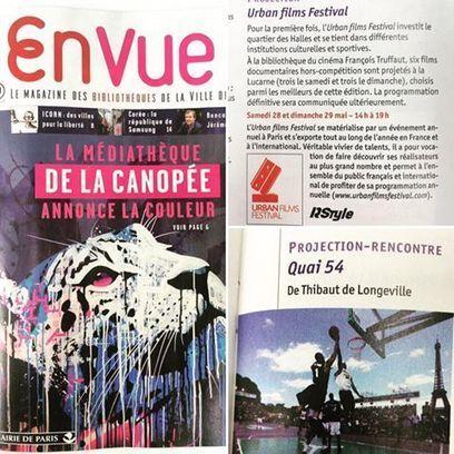 """Le magazine """"En Vue"""" annonce l'Urban... - URBAN FILMS FESTIVAL   Facebook   Quartier des Halles - et un peu plus autour de la Canopée...   Scoop.it"""