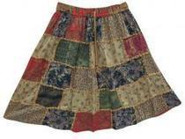 Brown Skirts Mini Patchwork Skirt | Cotton Short Skirt | Scoop.it