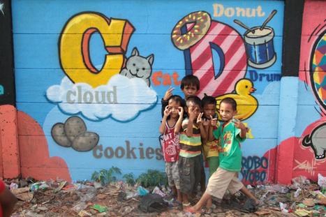 Volunteers use graffiti to teach Jakarta's street kids | Titans Music | Scoop.it