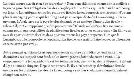 PwC Luxembourg réagit à LuxLeaks: «Tout est légal» | Luxembourg (Europe) | Scoop.it