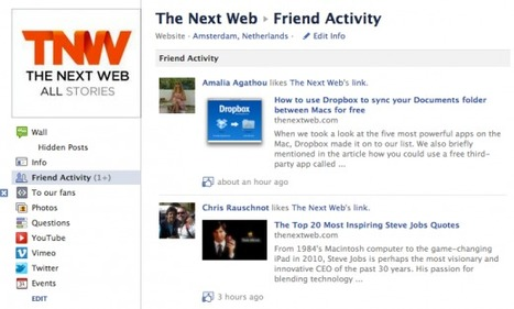 "Facebook adds Friend Activity to Pages, so you can stalk their every move | ""#Google+, +1, Facebook, Twitter, Scoop, Foursquare, Empire Avenue, Klout and more"" 