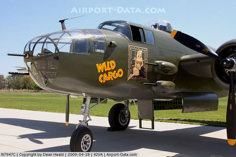 Aircraft N7947C (1944 North American B-25J C/N 44-30129) Photo by ... | WW2 Bomber - Nose Art | Scoop.it