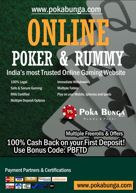 Play Online Rummy - Play Poker - Texas Holdem at PokaBunga.com   Online Poker India   Scoop.it