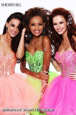 Prom Dresses 2013 - Sherri Hill 21101 - In Stock Short Strapless Corset | Fashion- formal dresses for everyone | Scoop.it