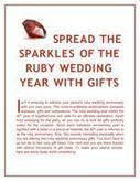Spread the Sparkles of the Ruby Wedding Year with Gifts | Gifts for Occasions | Scoop.it