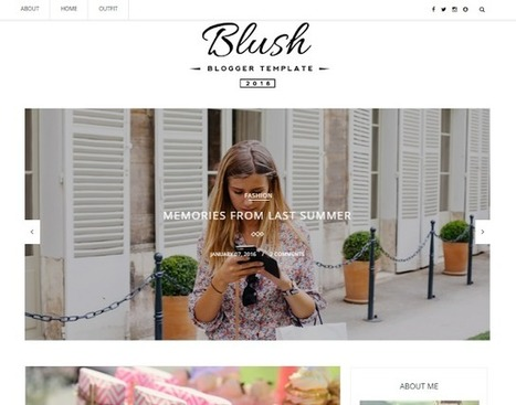 Blush | Blogger themes | Scoop.it