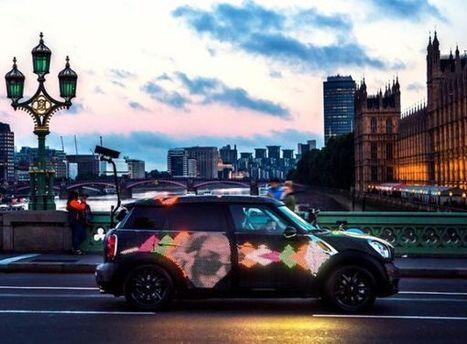 MINI Art Beat – Dynamic videos streamed on Mini Copper in streets of London | DamnGeeky | Scoop.it