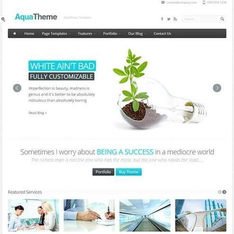 40 Perfect Responsive WordPress Themes for Business Website | Design Inspiration and Creative Ideas | Scoop.it