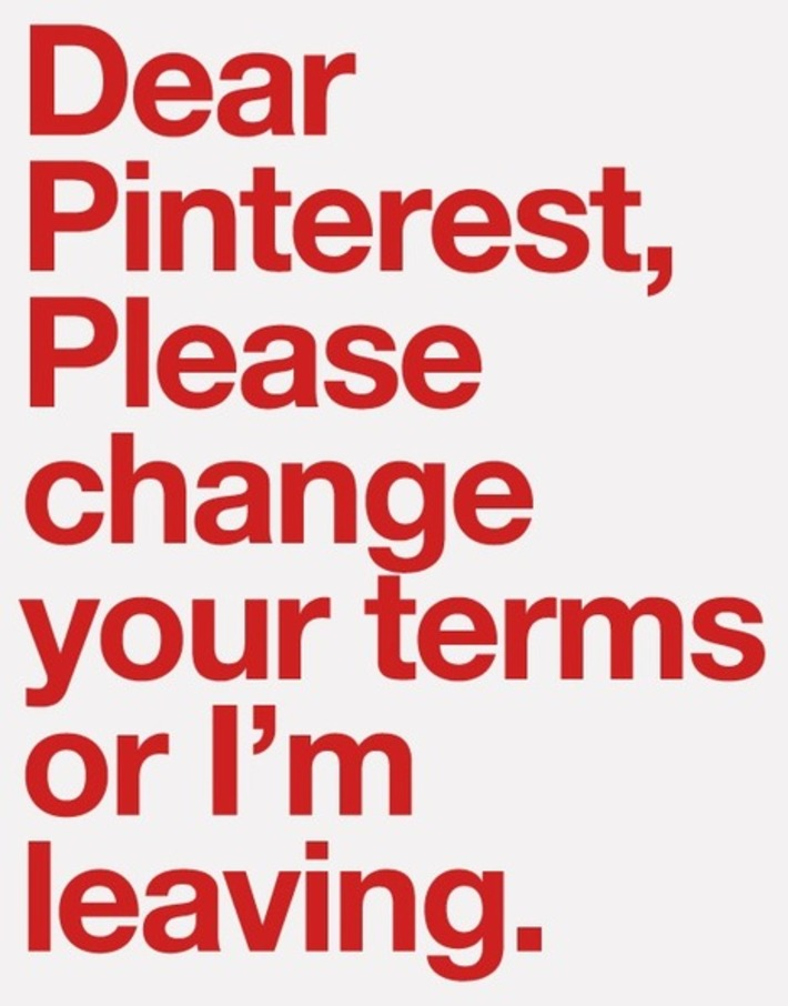 Pinterest: Change Your Terms or We're Leaving | The Window Seat | A Marketing Mix | Scoop.it