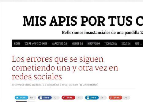 Los errores que se siguen cometiendo una y otra vez en redes sociales | Links sobre Marketing, SEO y Social Media | Scoop.it