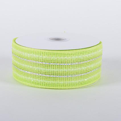 Lime Laser Metallic Mesh Ribbon 25 Yards | FuzzyFabric | Scoop.it