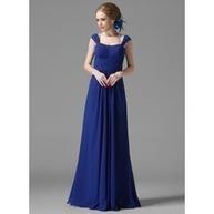 [US$ 114.99] Princesový Kruhový výstřih Délka na zem Chiffon Šaty pro družičku S Volán (007013956) | fashion dress | Scoop.it