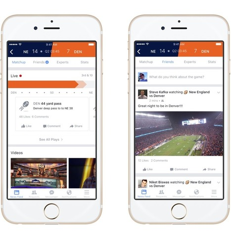 Facebook Goes After ESPN and Twitter With New Live Sports Hub | The Scoreline Diminishes | Scoop.it