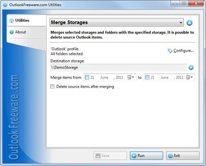 Merge Storages, fusionner des répertoires simplement avec Outlook | Time to Learn | Scoop.it