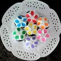 How to Make Marshmallow Flower Cupcakes   Fun Food   Scoop.it