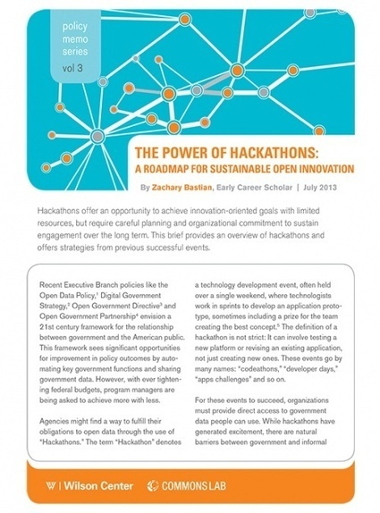 The Power of Hackathons: A Roadmap for Sustainable Open Innovation | Wilson Center | Creativity | Scoop.it