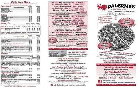 Palermos of 63rd Frankfort IL Menu – Pizza Frankfort IL | Pizza Frankfort IL | Scoop.it