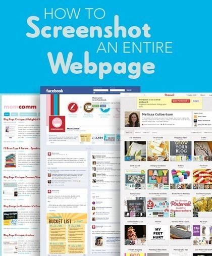 How to Screenshot an Entire Webpage | Chisholm iPads | Scoop.it