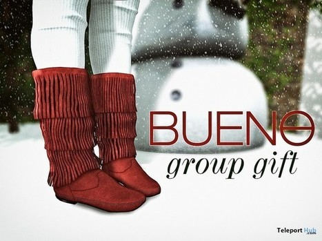Fringe Boots Holiday Group Gift by Bueno | Teleport Hub - Second Life Freebies | Second Life Freebies | Scoop.it