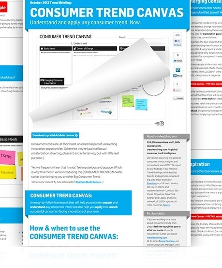 Identify Valuable Business Opportunities with the Consumer Trend Canvas | Digital & Mobile Marketing Toolkit | Scoop.it