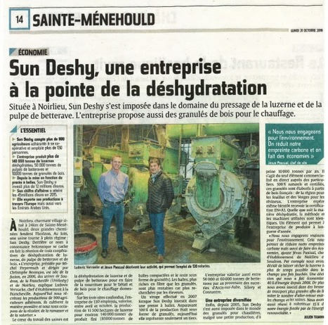 [Institutionnel] Article L'UNION - SUN DESHY, une entreprise à la pointe de la déshydratation | Revue de Presse Agricole | Scoop.it
