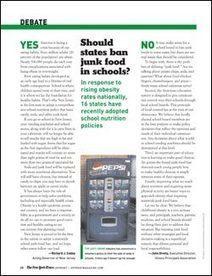 Should states ban junk food in schools?   Scholastic.com   7th Grade Debate Articles   Scoop.it