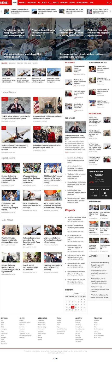 News Joomla Professional Newscast Deliver Template | Premium Joomla Templates | Scoop.it