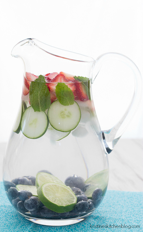 Refreshing Fruit Water - Kristine's Kitchen | The Basic Life | Scoop.it