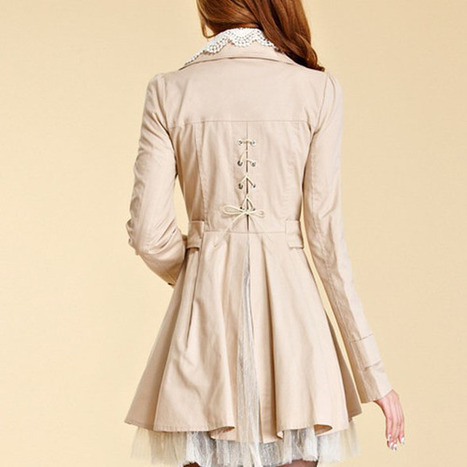 Cheap 2013 Hitz Korean long sections lapel double-breasted Slim trench coat with lace in women outcoat from women clothing on sightface.com | Cheap women Clothing Online at Sightface | Scoop.it