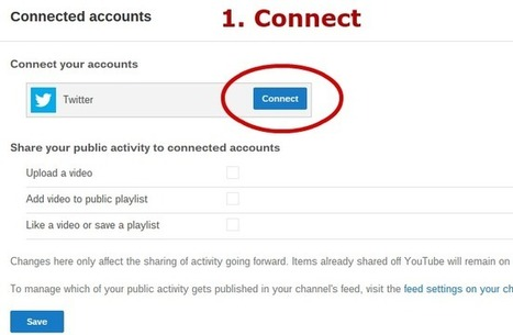 Google+ Integration Tips and Tricks: Connect your YouTube Channel to Twitter   GooglePlus Expertise   Scoop.it