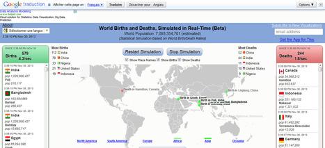 Une carte mondiale des naissances et des décès en temps réel | Tout le web | Scoop.it