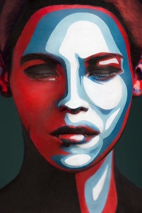 2D Or Not 2D – Models Transformed Into 2D Portrait Images with Face Paint | Culture and Fun - Art | Scoop.it