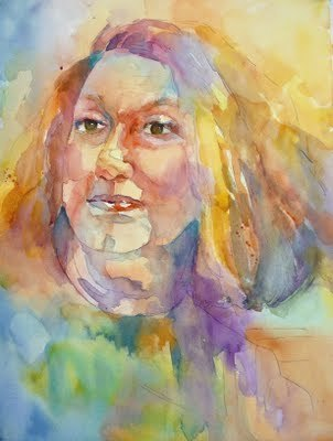 """Watercolor Portrait"" Nancy Standlee 