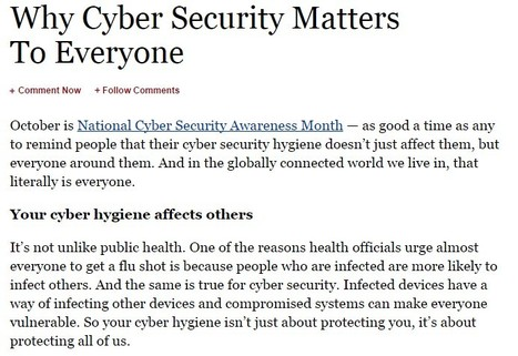 Why Cyber Security Matters To Everyone | Cyber Hygiene | Digital Citizenship | Education | Scoop.it