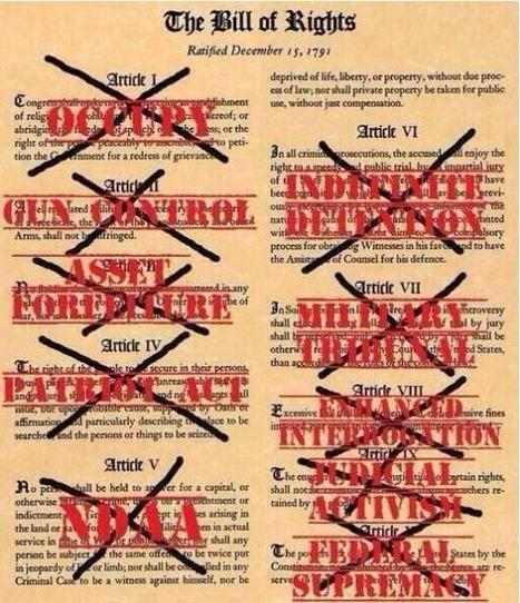 The Bill of Rights - ALL or NONE!  Your choice America.  #OATH not #NDAA | Criminal Justice in America | Scoop.it
