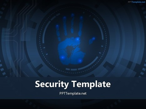 Free Palm Print 3 PPT Template | Free PPT Templates | Scoop.it