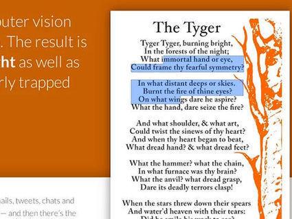 Grâce à Project Naptha, Chrome reconnaît le texte dans les images | Ressources pour la Technologie au College | Scoop.it
