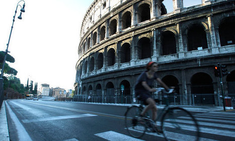 Rome bans cars on road to Colosseum as part of pedestrianisation ...   Italian Tales   Scoop.it