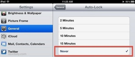Stop iPad Screen from Dimming or Locking Automatically | Using the Amazing iPad | Scoop.it