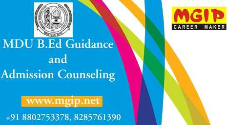 MDU B.Ed Guidance and Counseling in Delhi | MDU B.Ed Admission Updates 2014-15 | Scoop.it
