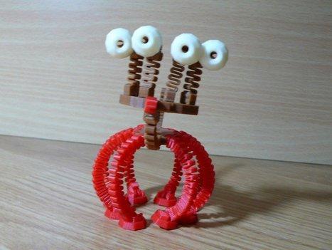 German Maker Shares Interlocking 3D Printed Creature, 'Spring Things,' on Thingiverse | Peer2Politics | Scoop.it