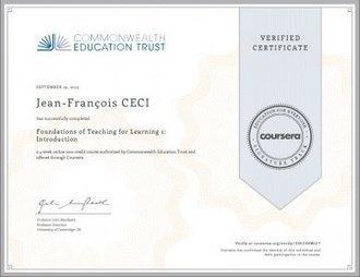 Je me forme, donc je suis ! Petit témoignage sur la certification « Signature track » de COURSERA. - Educavox | Enseignement numérique | Scoop.it
