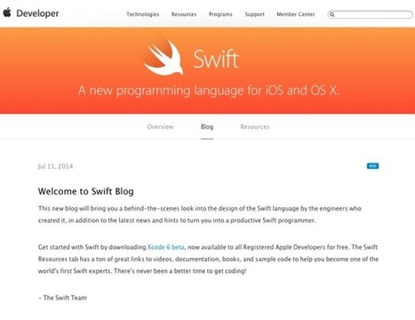 Why Apple's Blogging About Swift, Its New Programming Language For iPhones And Macs - ReadWriteWeb | Digital-News on Scoop.it today | Scoop.it