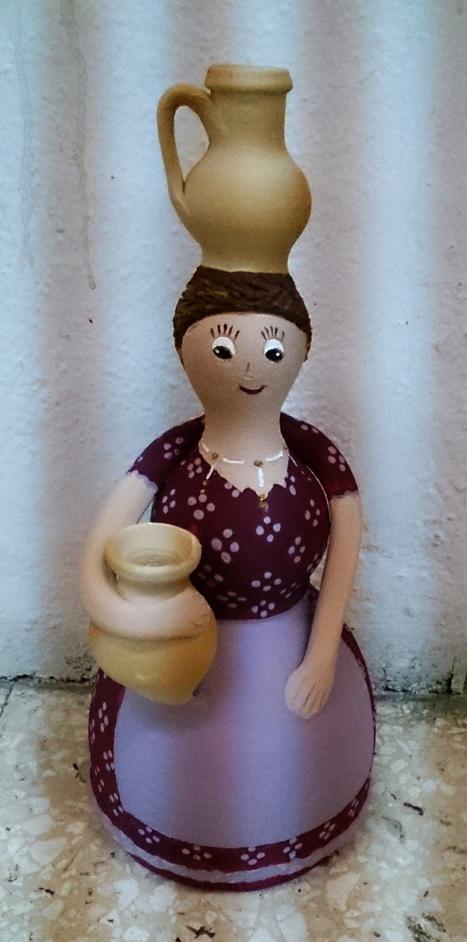 Muñeca de arcilla pintada con acrílicos | Mano a Mano con Cari | artes decorativas | Scoop.it