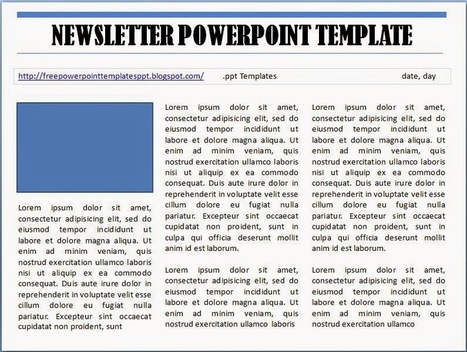 Free Microsoft PowerPoint Newsletter Template Free Download and Editable | Free PowerPoint Presentations Templates Background to Download | Scoop.it