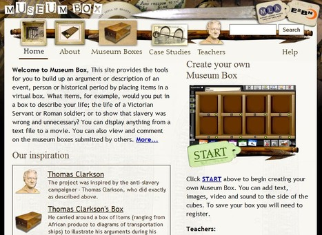 Museum Box tools for you to build up an argument or description of an event, person or historical period | K-12 Web Resources - History & Social Studies | Scoop.it
