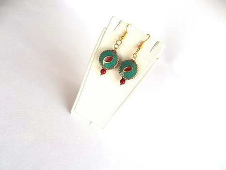Nepal Earrings , Ethnic Earrings , Turquoise and Coral earrings , Tribal , Tibet Beads , Handmade Nepal Jewelry | My Jewelrys | Scoop.it