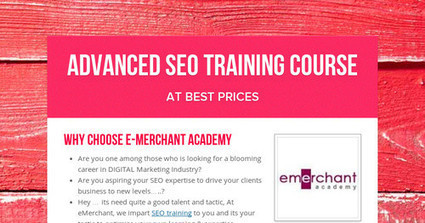 Advanced SEO Training Course | Search Engine Optimization | Scoop.it